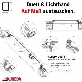 Alte Lichtband Duett auf Maß tauschen - KSW-R 1x2