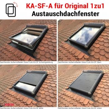 Außenrolladen Solar-Funk für 1zu1 Braas Klassik & Light BK-BL (KA-SF-A BB)